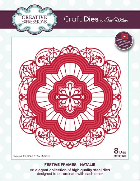 Sue Wilson Designs - Die - Festive Frames Collection Natalie