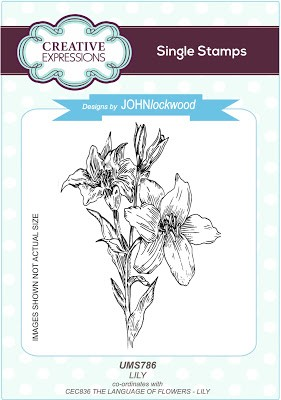 Creative Expressions - Cling Rubber Stamp - Lily