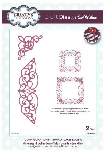 Sue Wilson Designs - Die - Configurations - Swirly Lace Edger