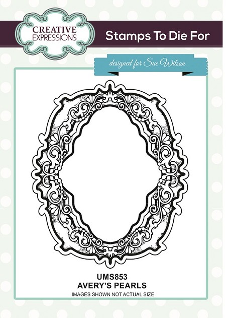 Sue Wilson Designs - Cling Mounted Stamp - Avery's Pearls