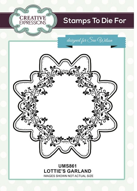 Sue Wilson Designs - Cling Mounted Stamp - Lottie's Garland