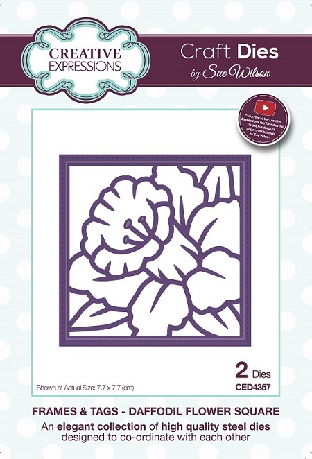 Sue Wilson Designs - Die - Frames & Tags Collection Daffodil Flower Square