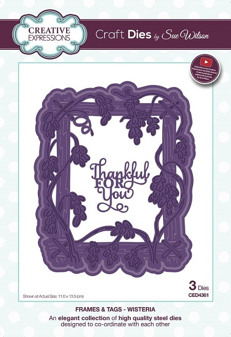 Sue Wilson Designs - Die - Frames & Tags Collection Wisteria