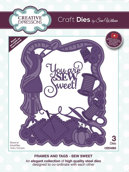 Sue Wilson Designs - Die - Frames & Tags Collection Sew Sweet