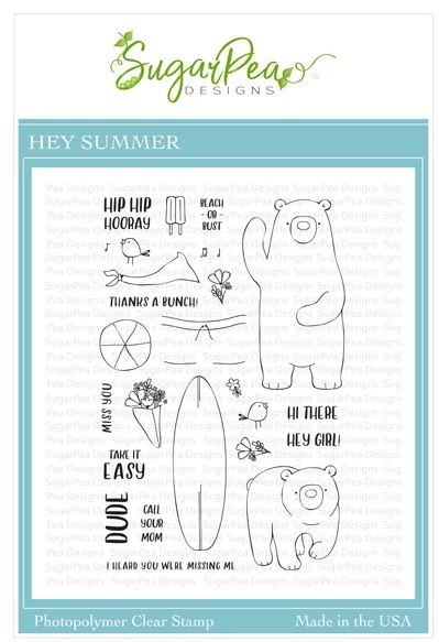 SugarPea Designs - Hey Summer Clear Stamps