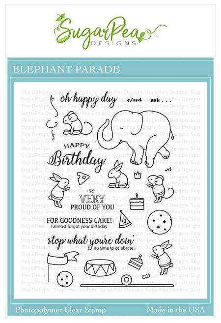 SugarPea Designs - Elephant Parade Clear Stamps