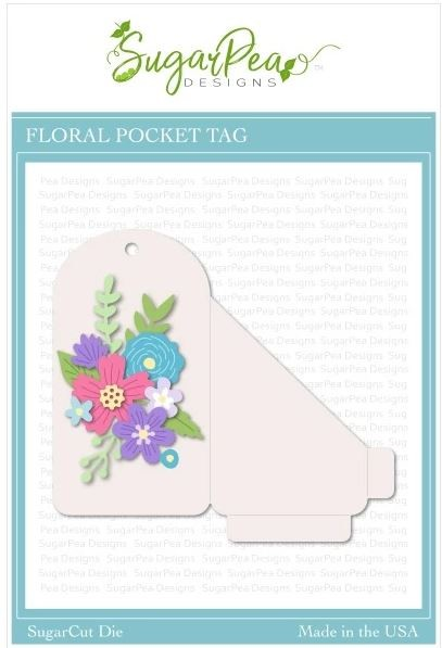 SugarPea Designs - Floral Pocket Tag SugarCut
