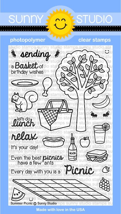 Sunny Studio - Clear Stamp - Summer Picnic