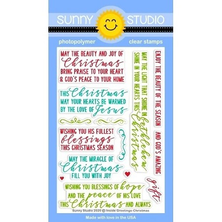 Sunny Studio - Clear Stamp - Inside Greetings Christmas