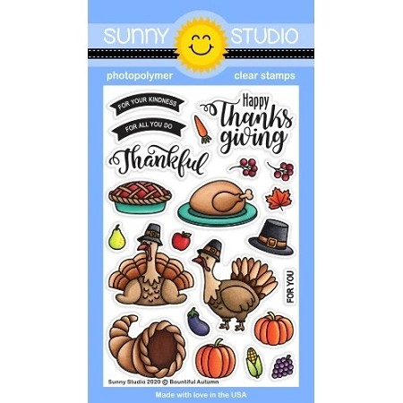 Sunny Studio - Clear Stamp - Bountiful Autumn