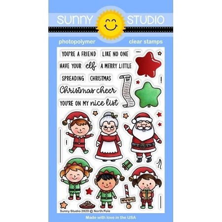 Sunny Studio - Clear Stamp - North Pole
