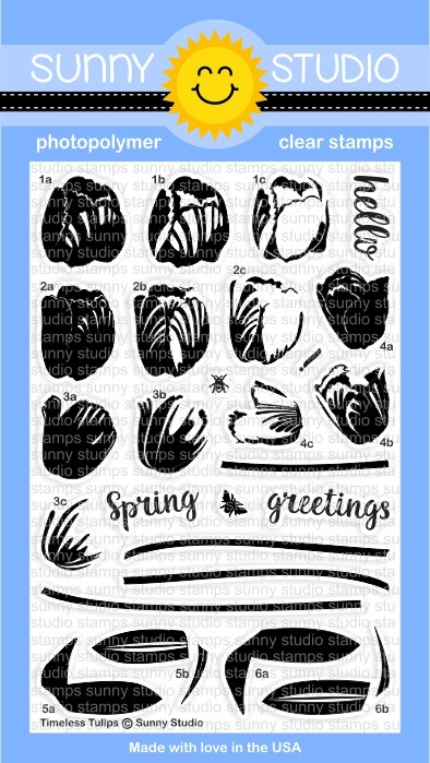 Sunny Studio - Clear Stamp - Timeless Tulips