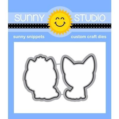 Sunny Studio - Cutting Dies - Puppy Dog Kisses