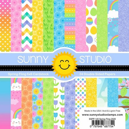 "Sunny Studio - 6""x6"" Paper Pads - Spring Fling"
