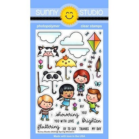 Sunny Studio - Clear Stamp - Spring Showers