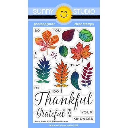 Sunny Studio - Clear Stamp - Elegant Leaves