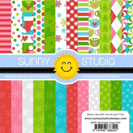 "Sunny Studio - 6""x6"" Paper Pads - Holiday Cheer"