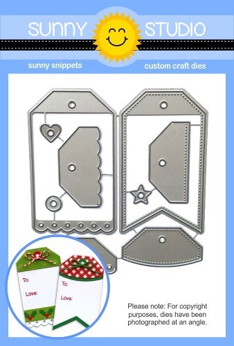 Sunny Studio - Cutting Dies - Build-A-Tag #2