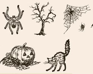 Tattered Angels-Screen Prints-Clear Stamps-Halloween Hauntings
