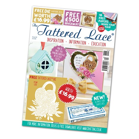 Tattered Lace - Tutorial Magazine & Die Kit - Issue 49