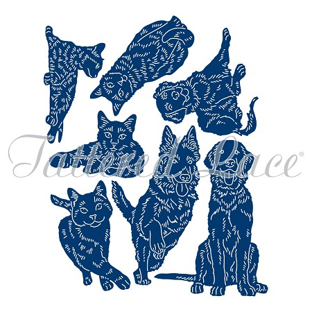 Tattered Lace - Dies - Set of Grown-up Cats and Dogs