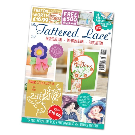 Tattered Lace - Tutorial Magazine & Die Kit - Issue 45