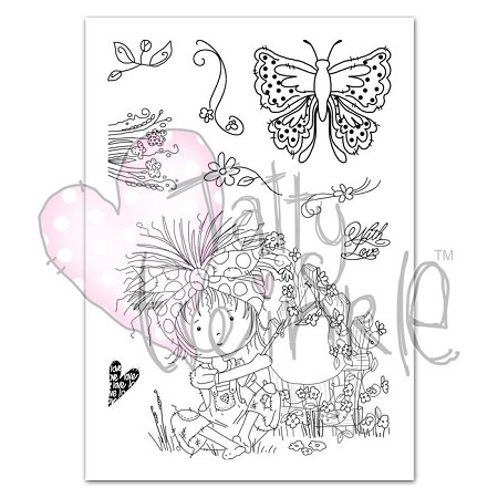 Tattered Lace - Tatty Twinkle clear stamps - With Love