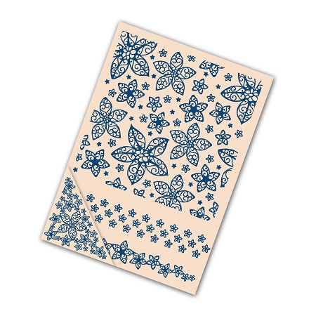 "Tattered Lace - Embossing Folder Set - Lacy Flower (set of 4) (7.75"")"