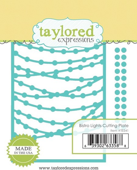 Taylored Expressions - Cutting Die - Bistro Lights Cutting Plate