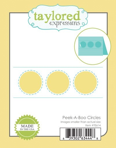 Taylored Expressions - Cutting Die - Peek-a-Boo Circles