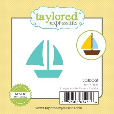 Taylored Expressions - Cutting Die - Little Bits Sailboat