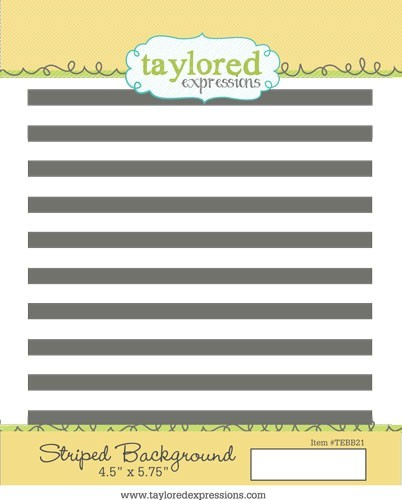 Taylored Expressions - Cling Mounted Rubber Stamp - Striped Background