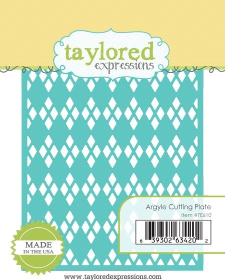 Taylored Expressions - Cutting Die - Argyle Cutting Plate