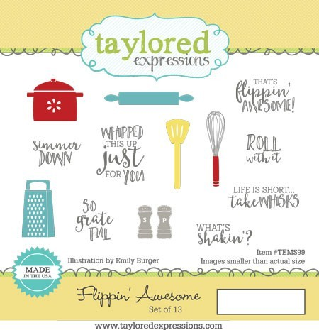 Taylored Expressions - Cling Mounted Rubber Stamp - Flippin' Awesome