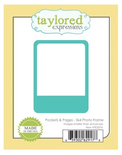 Taylored Expressions - Cutting Die - Pockets & Pages - 3x4 Photo Frame