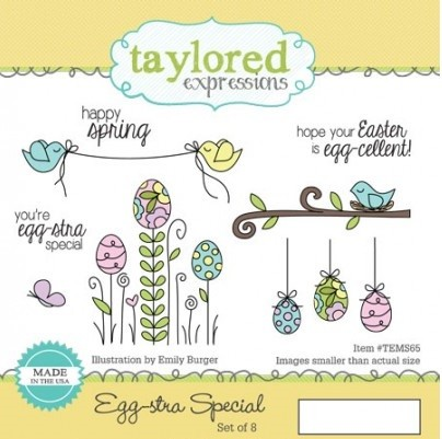 Taylored Expressions - Cling Mounted Rubber Stamp - Egg-stra Special