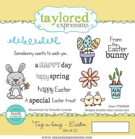 Taylored Expressions - Cling Mounted Rubber Stamp - Tag-A-Long Easter