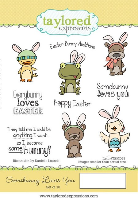 Taylored Expressions - Cling Mounted Rubber Stamp - Somebunny Loves You