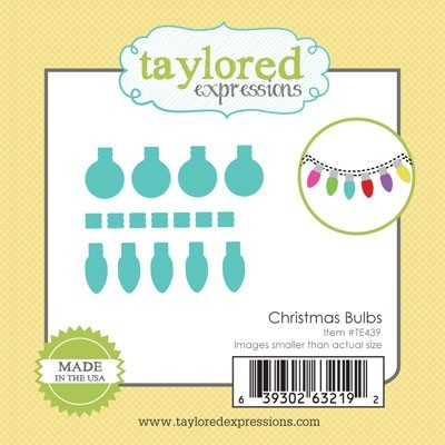 Taylored Expressions - Cutting Die - Little Bits Christmas Bulbs