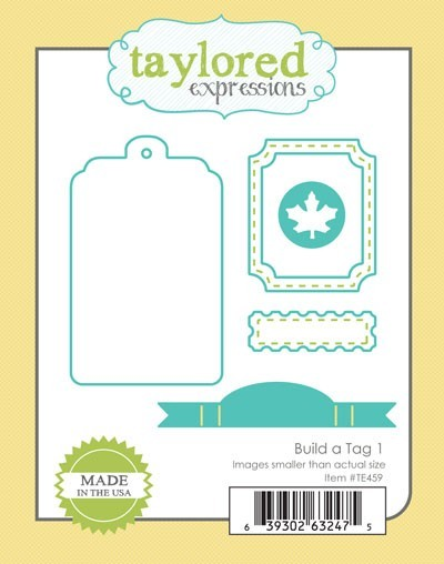 Taylored Expressions - Cutting Die - Build a tag 1