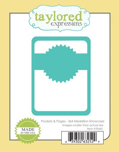 Taylored Expressions - Cutting Die - Pockets & Pages - 3x4 Medallion Showcase