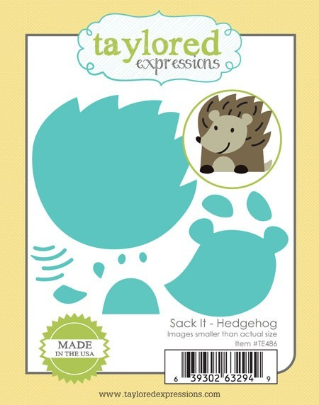 Taylored Expressions - Cutting Die - Sack-It Hedgehog