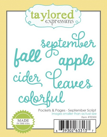 Taylored Expressions - Cutting Die - Pockets & Pages September Script