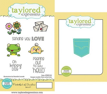 Taylored Expressions - Rubber Cling Stamps & Die Set - Pocketful of Sunshine