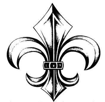 Technique Tuesday - Clear Stamp - Fleur-de-lis