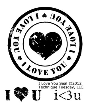 Technique Tuesday - Clear Stamp - I love you seal