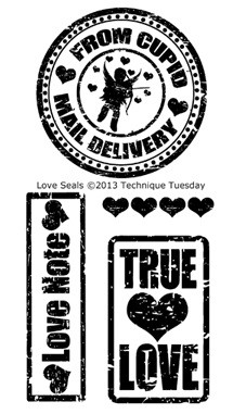 Technique Tuesday Clear Stamp - Love Seal