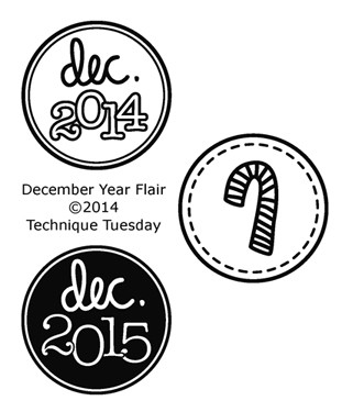 Technique Tuesday Clear Stamp - December Year Flair