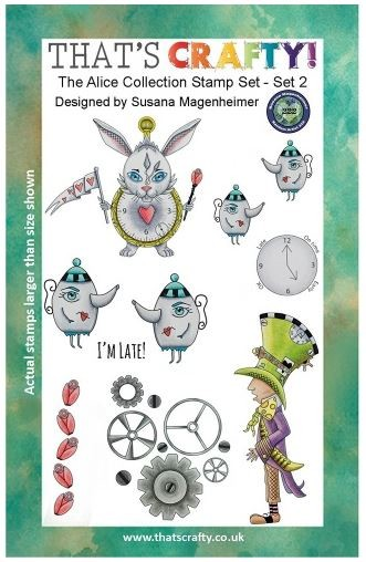 That's Crafty! - Clear Stamps - The Alice Collection Set 2 by Susana Magenheimer
