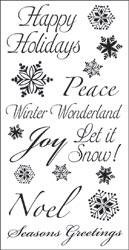 TPC Studio-Clear Stamp-Snowflake